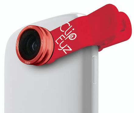 ClipEyz Fisheye Lens - Rød