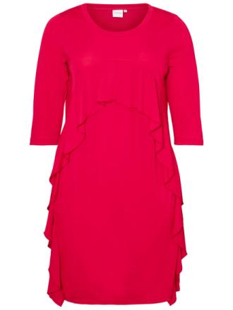 JUNAROSE Feminine Jersey Dress Women Red