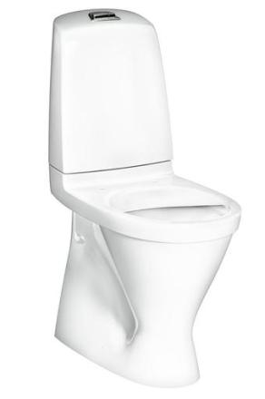 Gustavsberg Nautic 1546 golvstående toalett m/hygienic Flush, u/sits - hög modell