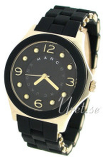 Marc by Marc Jacobs MBM2540 Pelly Svart/Gulguldtonat stål Ø37 mm