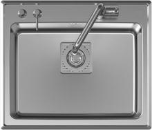 Intra Frame FR 60 SX Diskho 59,5x51 cm m/Korgventil Rostfritt Stål