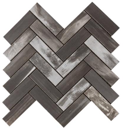 klinker wood on fire dark fiskben mosaik