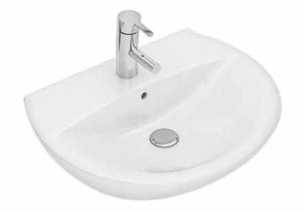 Ifö Spira tvättställ 59,2x45,9 cm m/bräddavlopp och kranhål