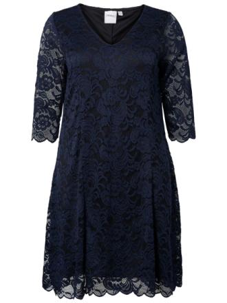 JUNAROSE Lace Dress Women Blue