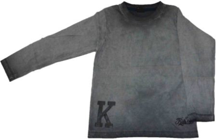 Langærmet T-shirt grå cold pigment - KIDS-UP