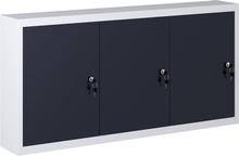 vidaXL vægmonteret værktøjsskab industriel stil metal grå og sort