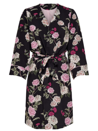 ONLY Flower Printed Kimono Women Black