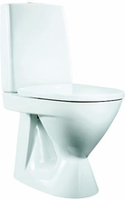 IDO Seven D 37310 golvstående toaltt med mjuksits, dolt s-lås, för limning, vit
