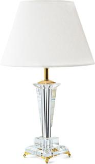 Crystalline Sweden ~ CHLOE bordslampa i kristall med vit skärm