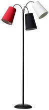 Salsa Golvlampa med 3 armar (inkl. lampskärmar), Svart