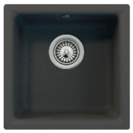 Intra Euro N100 Diskho 40x40 cm, m/Korgventil, Cristalite, Onyx Svart