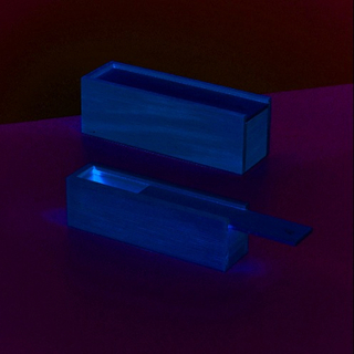 Trälåda 23 x 7 x 7,5 cm - obehandlat 2 delar med skjutbart lock