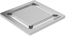 """Geberit CleanLine designsil """"Square"""" till installationssats 80 x 80 mm - borstat rostfritt stål"""