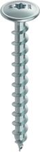 HECO-TOPIX treskrue/konsktruksjonsskrue 6,0 - 10,0 mm - flatt hode, T-Drive (Torx), elforsinket, helgjenget - 8 x 80 - 50 Stk.