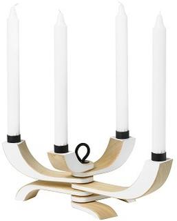 Design House Stockholm. Nordic Light 4-armad ljusstake, vit