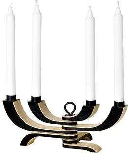 Design House Stockholm. Nordic Light 4-armad ljusstake, svart