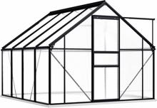 Drivhus med fundament 190x250cm - 4,75 m²
