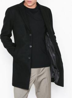 Premium by Jack & Jones Jprmorten Wool Coat Sts Jackor Svart