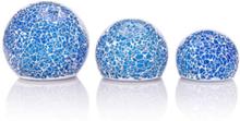 Lumesso LED-Mosaik-Kugeln aus Glas, 3tlg.