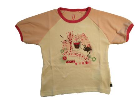 T-shirt hvid med print - Ü you-kids