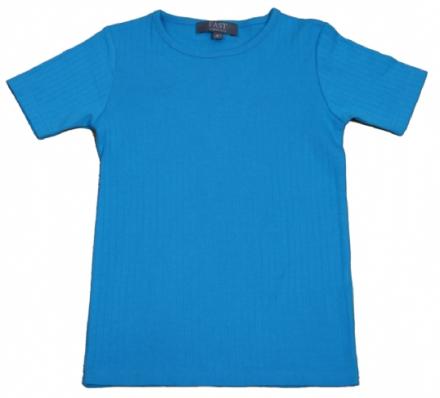 T-shirt turkis med korte ærmer - bombiBitt Fast