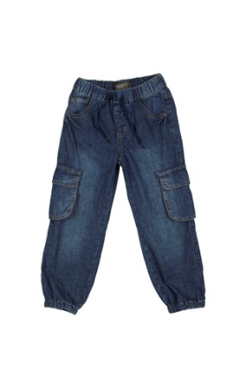 Jeans mørkblå med lommer på siden - Fransa kids