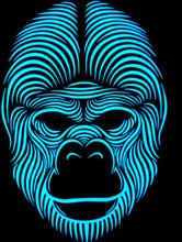 Mask Led Gorilla