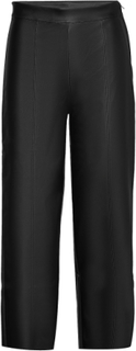 Holly Pu Culotte Trousers Leather Leggings/Bukser Sort Gina Tricot