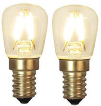 LED-lampa Soft Glow, E14, 2-pack