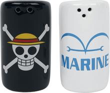One Piece - Skull & Marine -Salt-og pepperkar - flerfarget