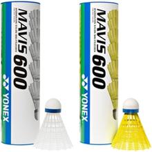 Yonex Mavis 600 1 rör Gul boll - Snabb (röd rand)