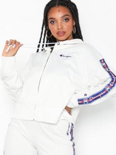 Champion Hooded Full Zip Top Trøjer med lynlås White