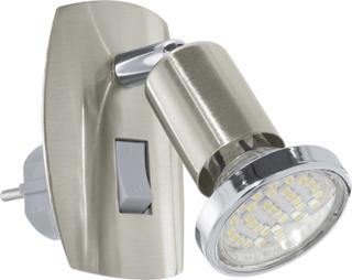 Stikdåselampe EGLO Mini 4 LED GU10 3 W Nikkel (mat)