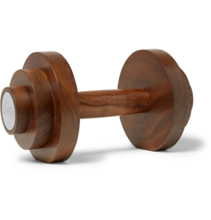 Dumbbell Wood Paperweight - Brown