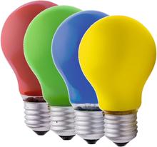 Normallampa E27 Färgad (Modell: 40W Blå)