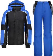 CMP Boy Set Jacket+Pant Barn skijakker fôrede Blå 116