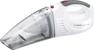 Severin S Power Home u. Car Batteridrevet håndstøvsuger 7.4 V Sne-hvid, Rød