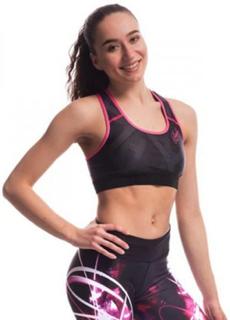 Quantum Sports Bra, Black/Pink Small