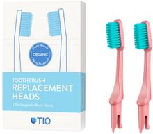 TIO Udskiftelige Tandbørstehoveder Lyserød (Soft 2 stk)