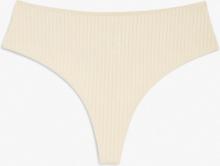 High-waist thong - Beige