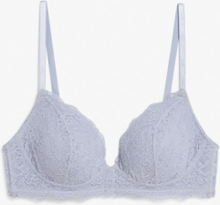 Padded lace bra - Blue