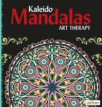 Målarbok Mandalas Kaleido Art Therapy svart