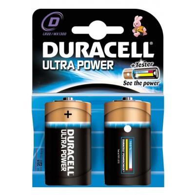 Duracell D Ultra Power 2 stk