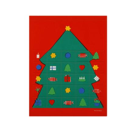 Rosolli joulukalenteri monivärinen
