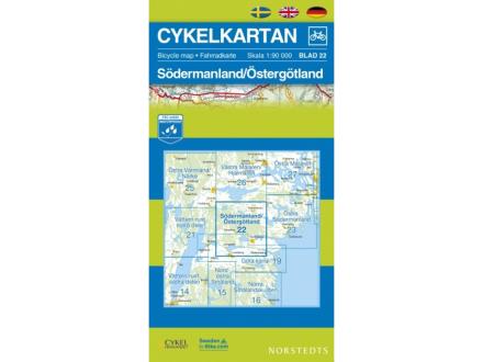 Norstedts Sykkelkart Ark 22 Södermanland/Östergötland