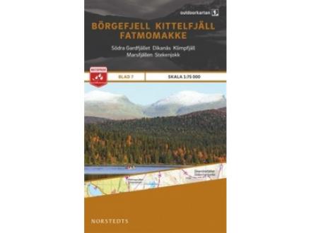 Norstedts Ark 7 Börgefjell-Kittelfjäll-Fatmomakke 1:75 000