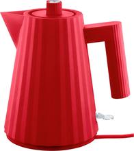 Alessi MDL06 Plissé vattenkokare 1 liter, röd