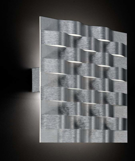 GROSSMANN Sinus LED væglampe, børstet aluminium