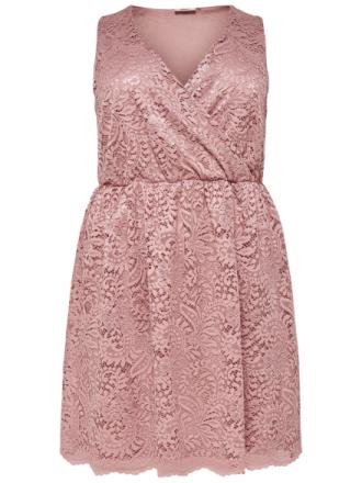 ONLY Curvy Lace Sleeveless Dress Women Pink