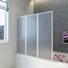 Badekaravskjerming med sammenleggbare paneler